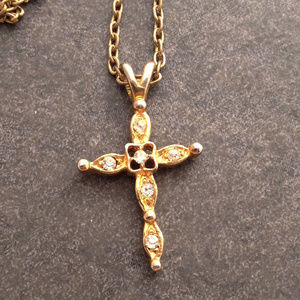 Vintage Gold Cross and Chain